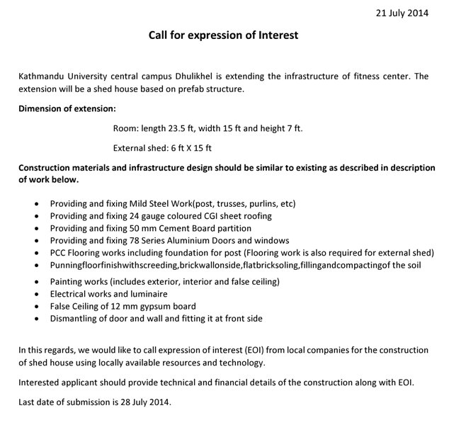 Kathmandu university news call for expression of interest thecheapjerseys Gallery